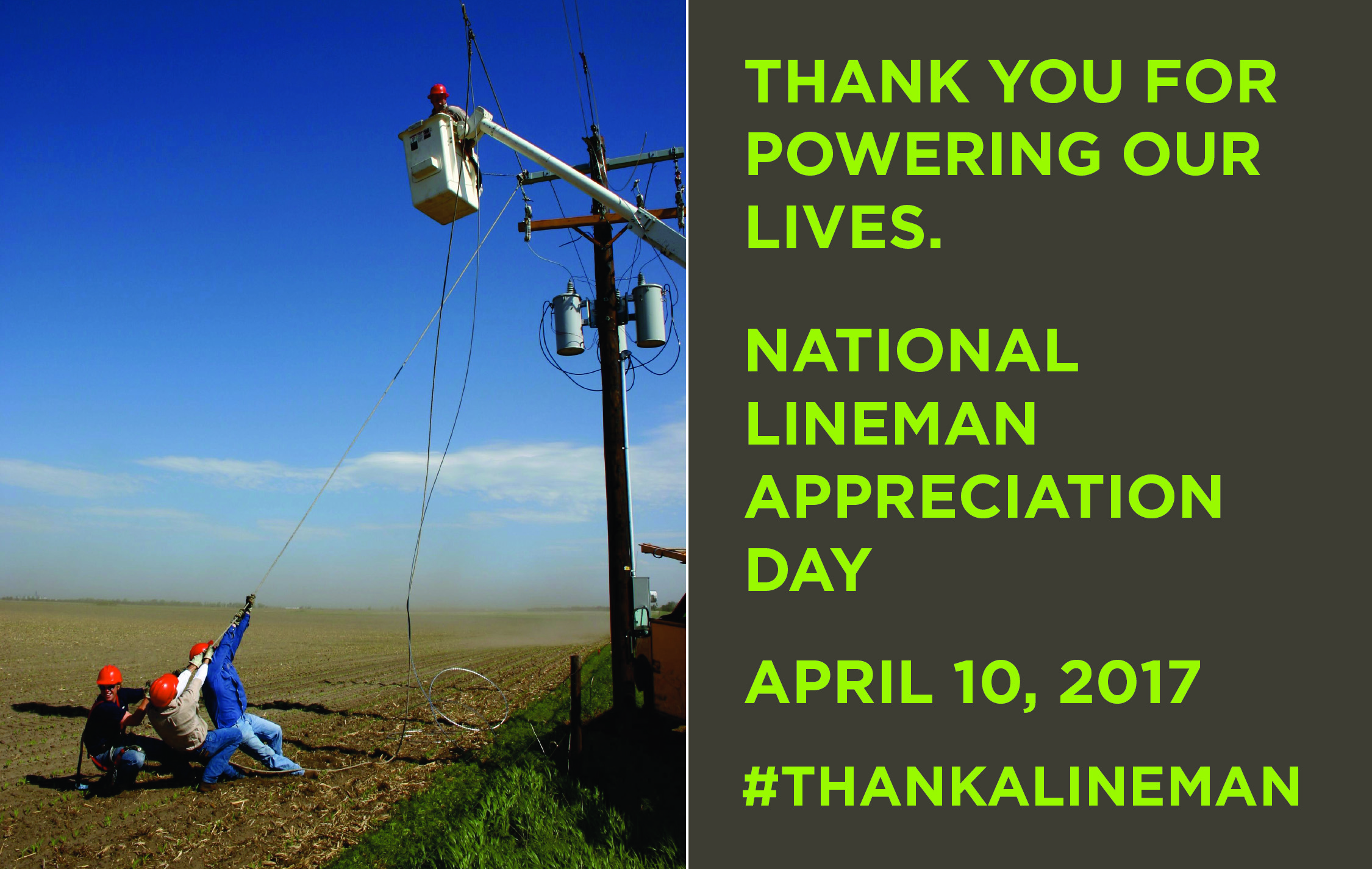 Lineman Appreciation Day Working For Nebraska